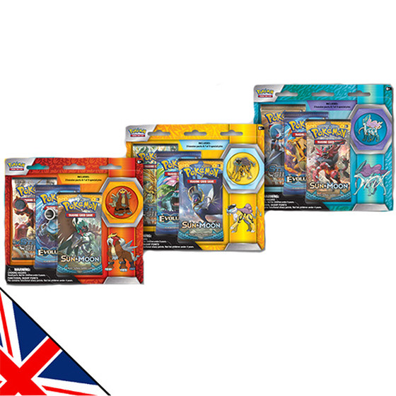Entei / Raikou / Suicune 3-Pack + Pin Blister