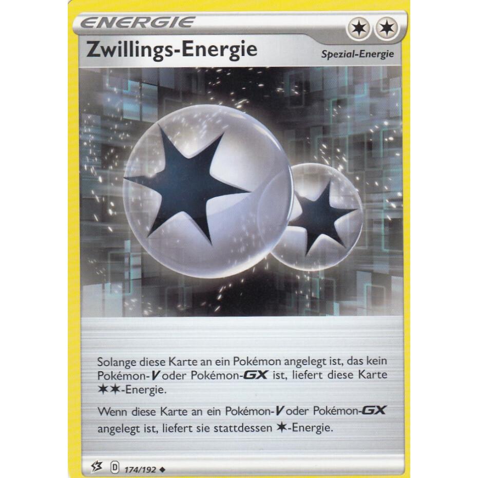 Zwillings-Energie Schwert /& Schild Clash der Rebellen 209//192 Gold Card Deutsch