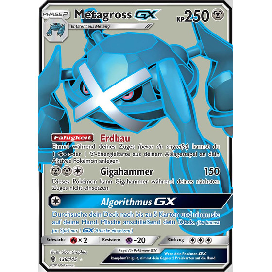 Metagross-GX - 139/145 - Fullart
