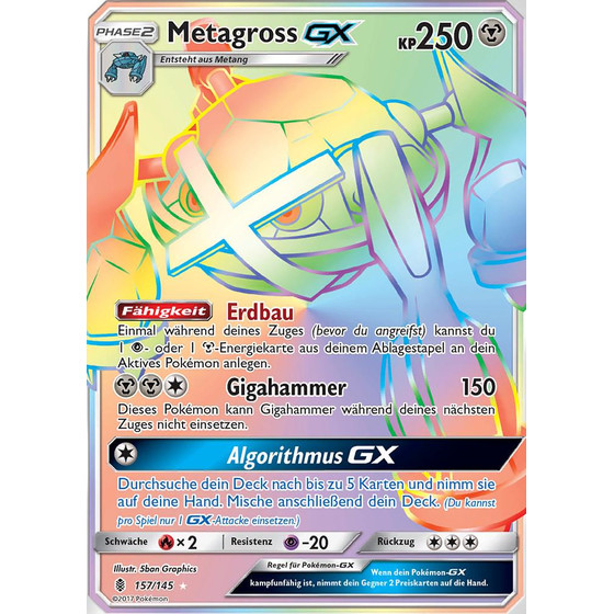 Metagross-GX - 157/145 - Rainbow