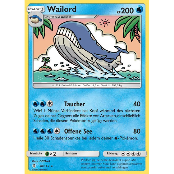 Wailord - 30/145 - Reverse Holo