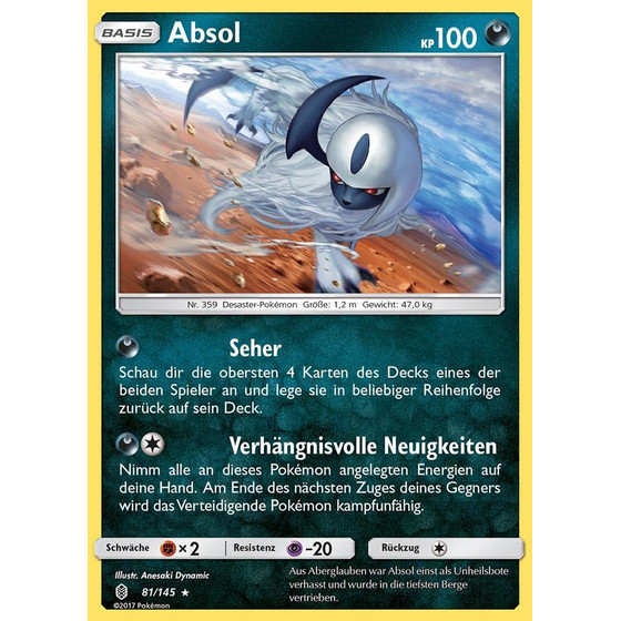 Absol - 81/145 - Reverse Holo