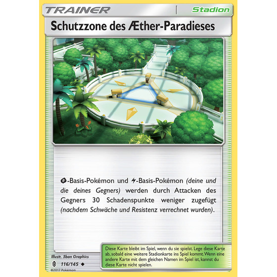 Aether-Paradies-Schutzzone - 116/145 - Reverse Holo