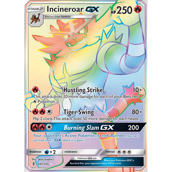 Incineroar-GX - 147/145 - Rainbow