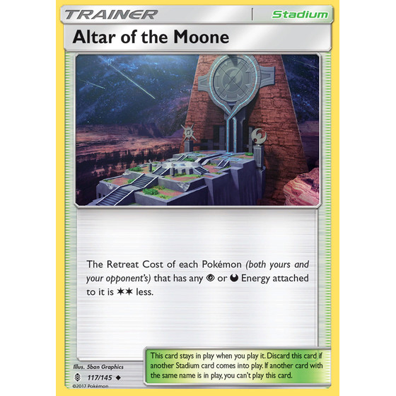Altar of the Moone - 117/145 - Reverse Holo