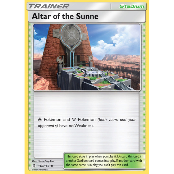 Altar of the Sunne - 118/145 - Reverse Holo