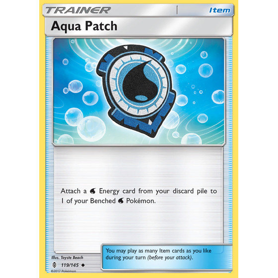 Aqua Patch - 119/145 - Reverse Holo
