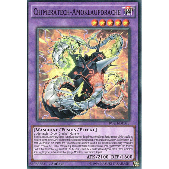 Chimeratech-Amoklaufdrache - DE093 - Super Rare - 1st...