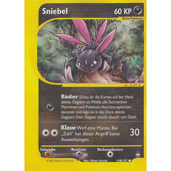 Sniebel - 110/147 - Reverse Holo