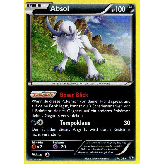 Absol - 40/108 - Holo