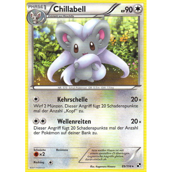 Chillabell - 89/114 - Reverse Holo