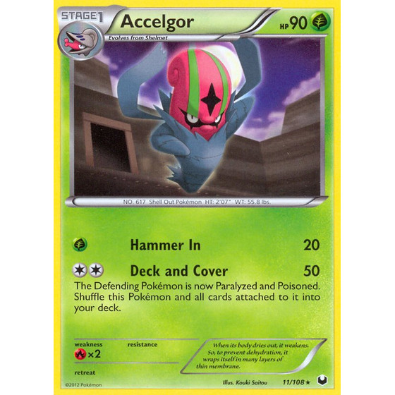 Accelgor - 11/108 - Reverse Holo