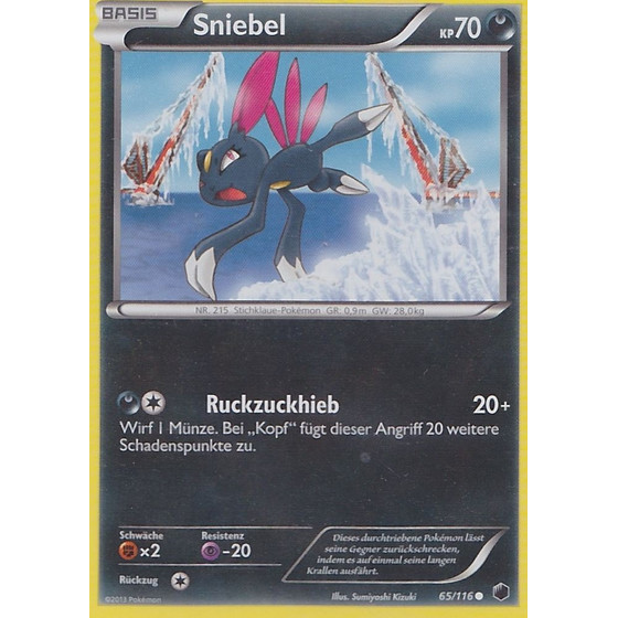 Sniebel - 65/116 - Reverse Holo