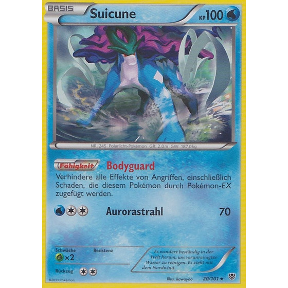 Suicune - 20/101 - Reverse Holo