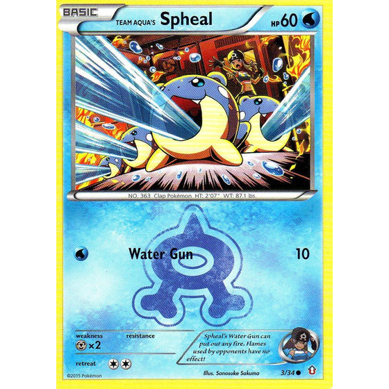 Team Aqua´s Spheal - 3/34 - Common