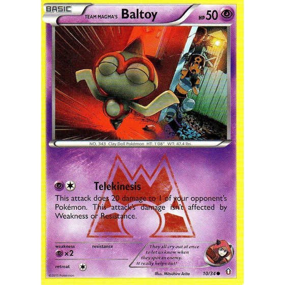 Team Magma´s Baltoy - 10/34 - Common