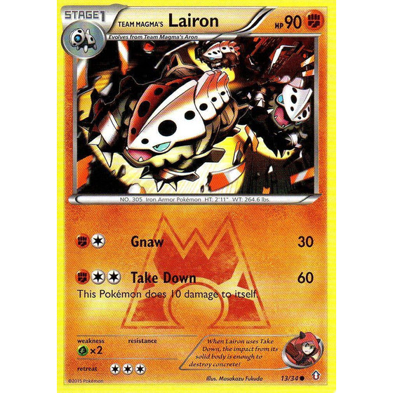 Team Magma´s Lairon - 13/34 - Common