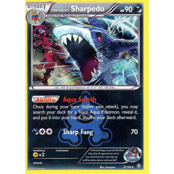 Team Aqua´s Sharpedo - 21/34 - Holo