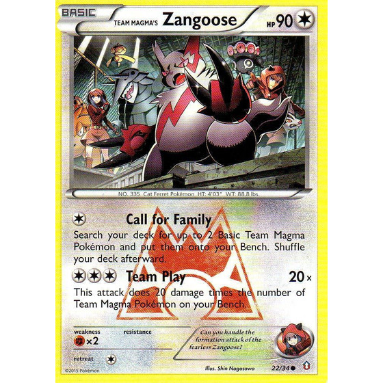 Team Magma´s Zangoose - 22/34 - Common