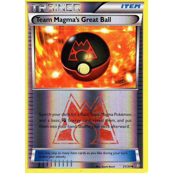 Team Magma´s Great Ball - 31/34 - Reverse Holo