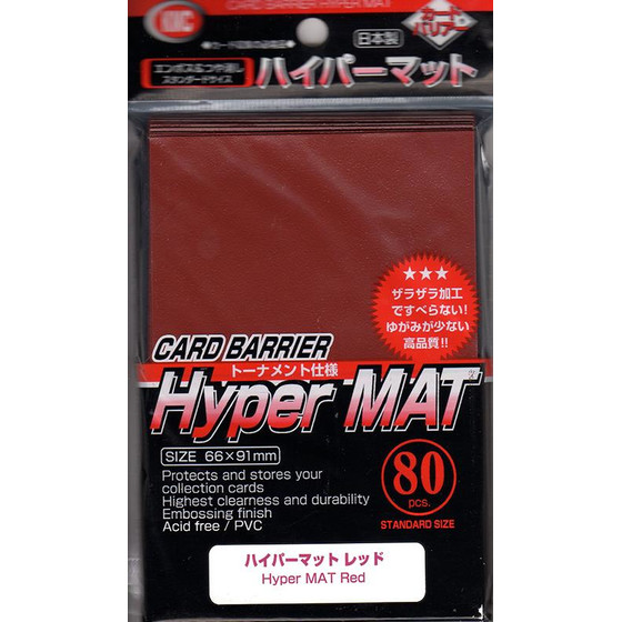 KMC Hyper Mat Red - 80 Sleeves