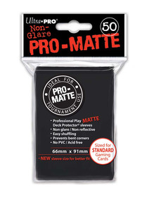 Ultra Pro Pro Matte Black - 50 Sleeves