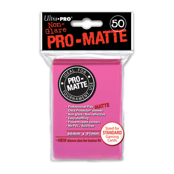Ultra Pro Pro Matte Bright Pink - 50 Sleeves