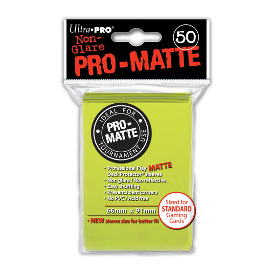 Ultra Pro Pro Matte Bright Yellow - 50 Sleeves