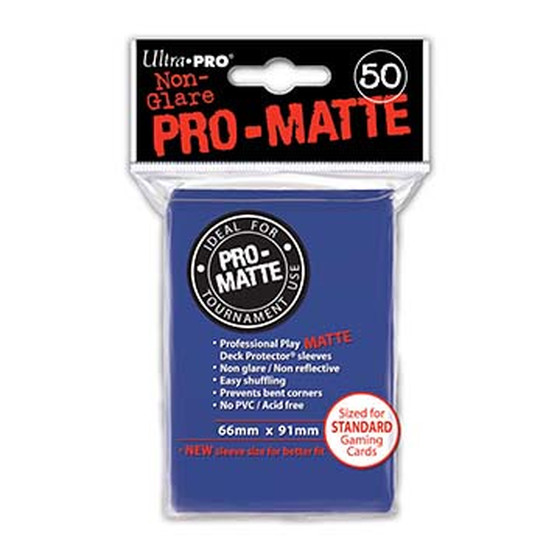 Ultra Pro Pro Matte Blue - 50 Sleeves