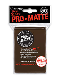 Ultra Pro Pro Matte Brown - 50 Sleeves