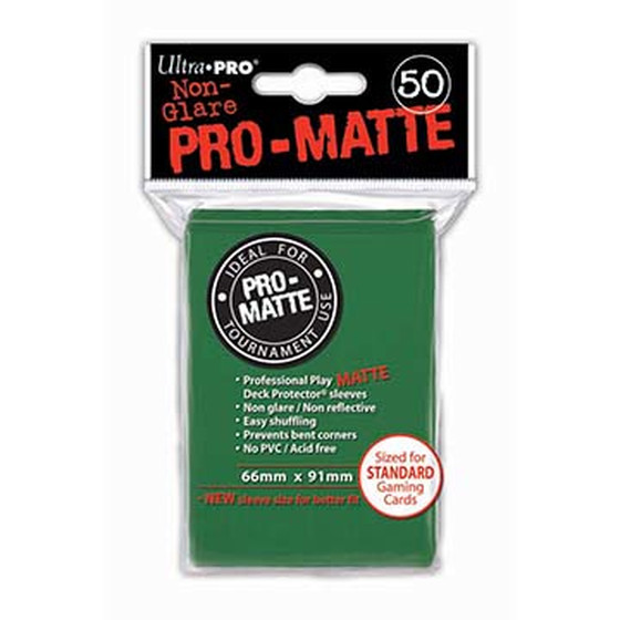 Ultra Pro Pro Matte Green - 50 Sleeves