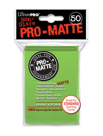 Ultra Pro Pro Matte Lime Green - 50 Sleeves