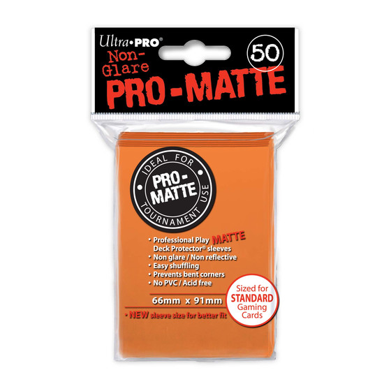 Ultra Pro Pro Matte Orange - 50 Sleeves