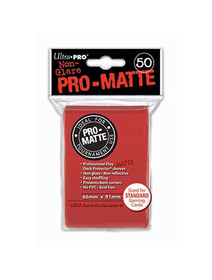 Ultra Pro Pro Matte Red - 50 Sleeves