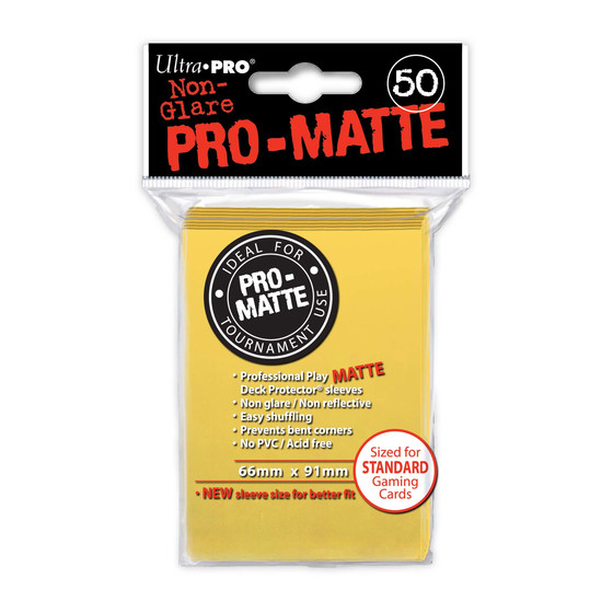 Ultra Pro Pro Matte Yellow - 50 Sleeves