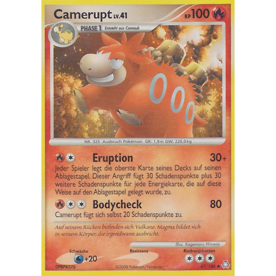 Camerupt - 47/146 - Reverse Holo