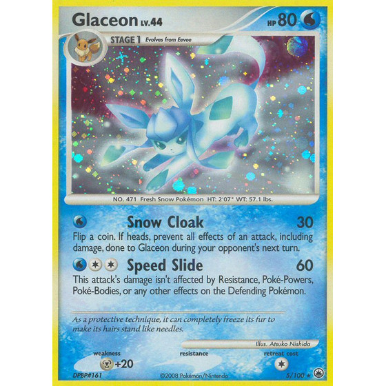 Glaceon - 5/100 - Holo