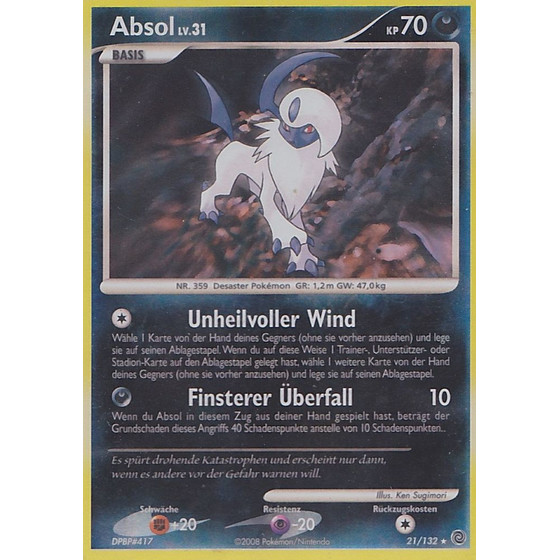 Absol - 21/132 - Reverse Holo