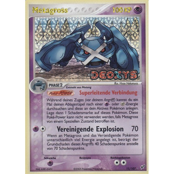 Metagross - 11/107 - Reverse Holo