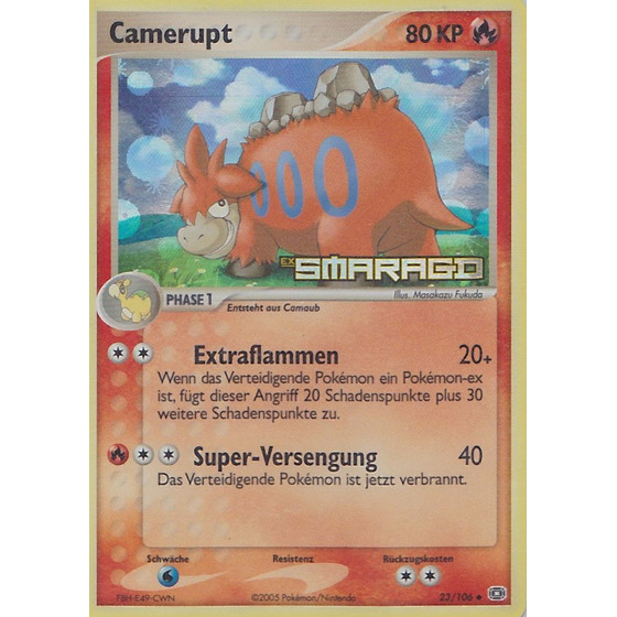 Camerupt - 23/106 - Reverse Holo