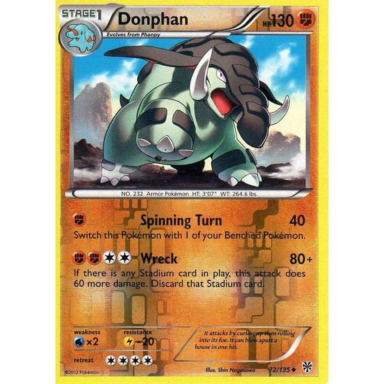 Donphan - 72/135 - Reverse Holo