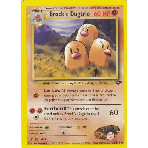 Brock S Dugtrio 22 132 Rare