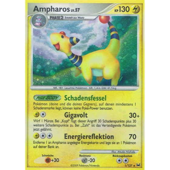 Ampharos - 1/127 - Reverse Holo
