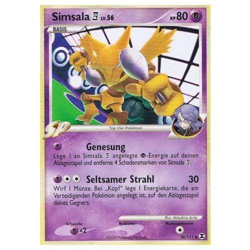 Aufstieg der Rivalen DE NM Reverse Pokemon Simsala 38//111