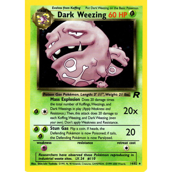 Dark Weezing - 14/82 - Holo