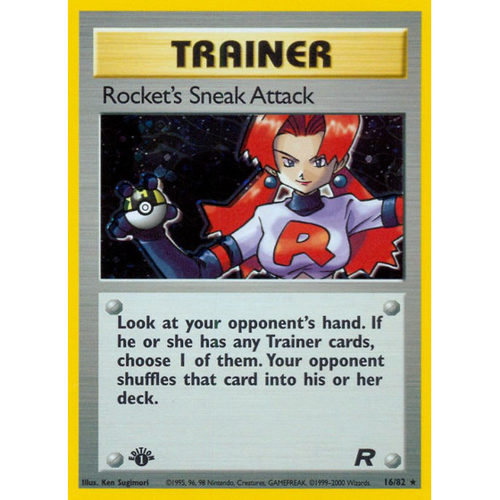 Rockets Sneak Attack - 16/82 - Holo 1st Edition