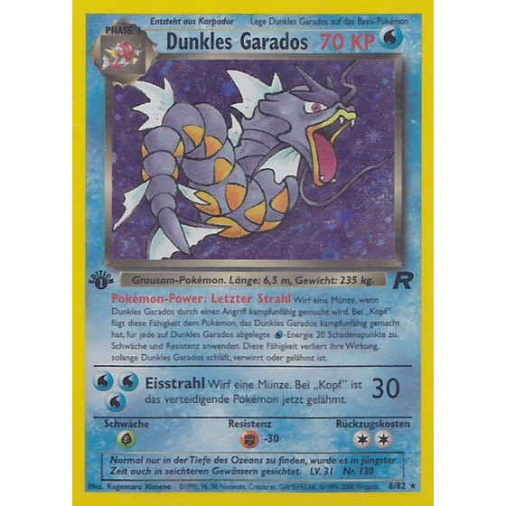 Dunkles Garados - 8/82 - Holo 1st Edition