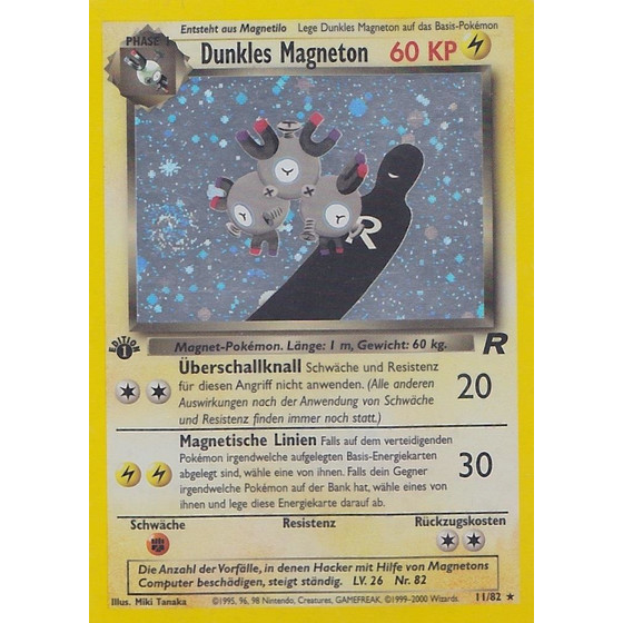 Dunkles Magneton - 11/82 - Holo 1st Edition