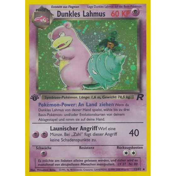 Dunkles Lahmus - 12/82 - Holo 1st Edition