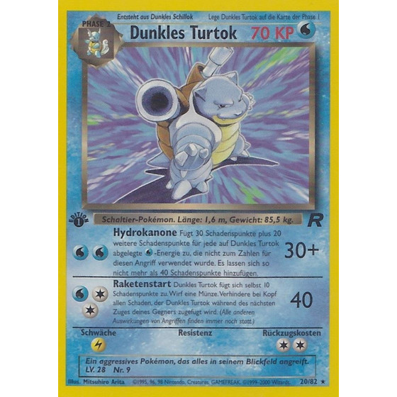 Dunkles Turtok - 20/82 - Rare 1st Edition